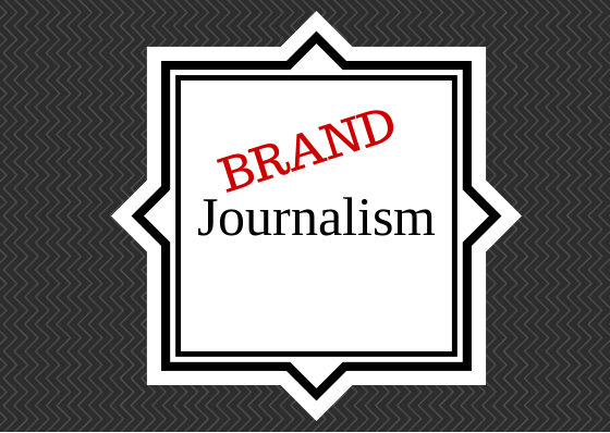 graphical image showing brand journalism is different than traditional journalism