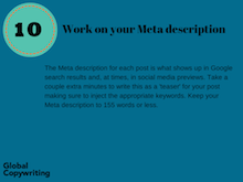 10 Work on your meta description - feature