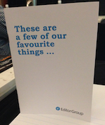 Marketing brochure from Editor Group titled These are a few of our favourite things