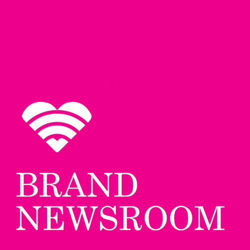 Logo for the Brand Newsroom podcast