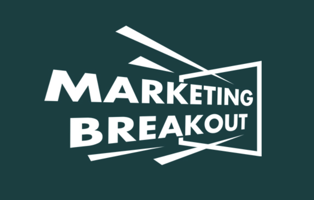 The logo for the marketing breakout podcast