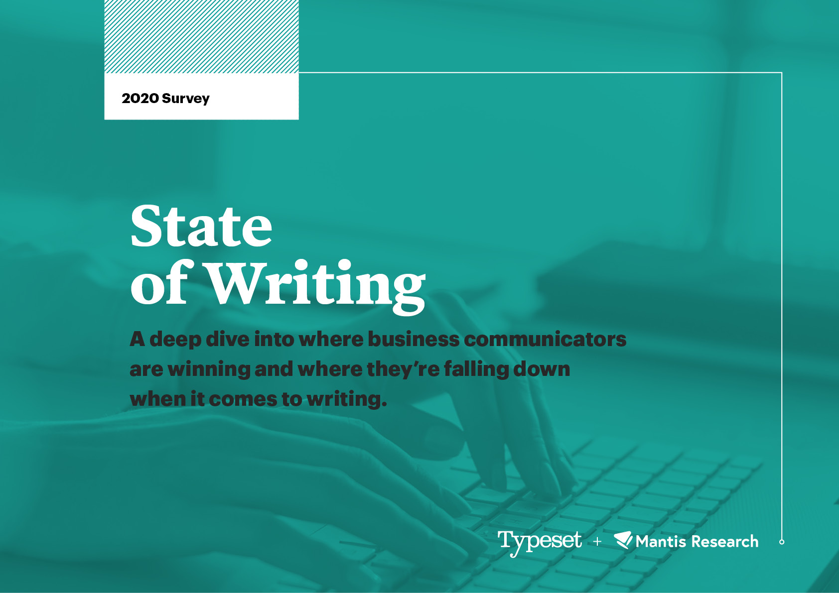 Cover of the State of Writing 2020 research report